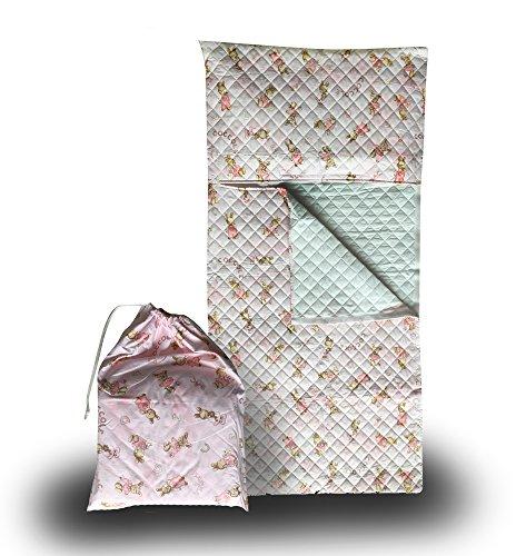 Set asilo - coniglietti coccole rosa - sacco nanna + sacchetto asilo - 2-6 anni