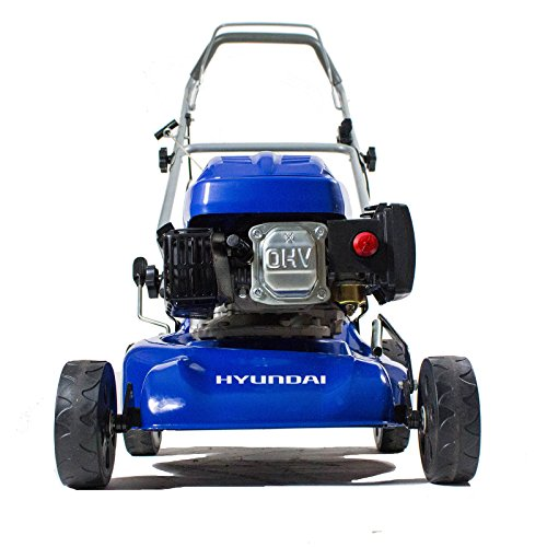 Hyundai 139cc 410 mm Petrol Push Rotary Lawn Mower HYM43P 6 Cutting Heights, Soft Grip Handle