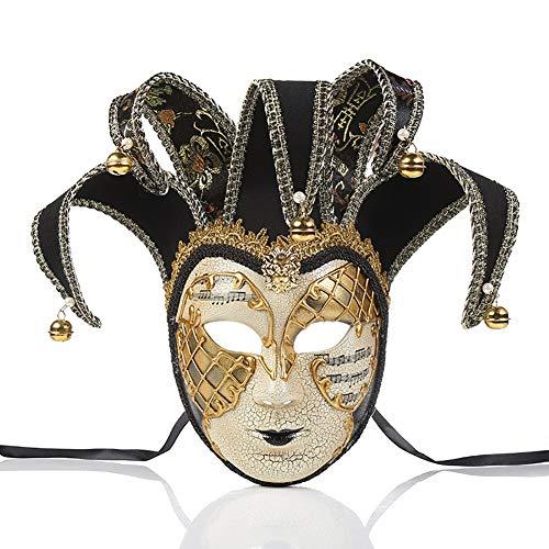 Story of life Herren Venezianischer Masken Halloween Kostüm Kleid Kugel Partei Maskerade Maske,Black