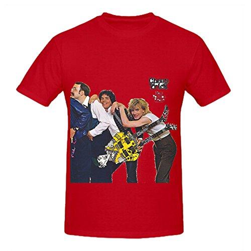 cheap-trick-siguiente-posicion-por-favor-80s-hombres-cuello-redondo-camiseta-de-musica