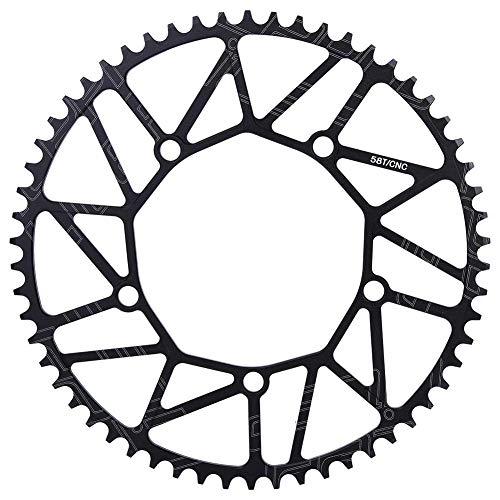 VGEBY1 Fahrradkettenrad, 50/52/54/56 / 58T 130BCD Fahrrad Single Geschwindigkeit Kettenblatt für die meisten Fahrrad Rennrad Mountainbike(58T)