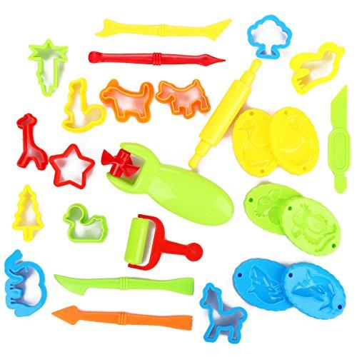 YKEZHU 26Pcs Piezas Kit de Herramientas de Plastilina Inteligentes,Juegos de Imitación Juguetes Educativos para Niños Bebé