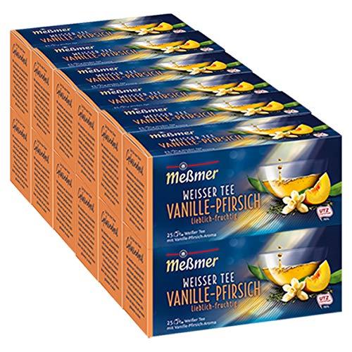 Meßmer Weißer Tee Vanille-Pfirsich 25 Teebeutel - 12 Packungen