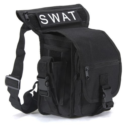 Sac multifonction pack porte ceinture cuisse taille jambetaille jambe poche velo camping Randonnee Randonnee sport Randonnee sport chasse airsoft montagne combat 5 couleurs (noir)
