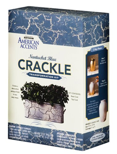 Rust Oleum Rustoleum American Accents Crackle Creations Kit Crackle Paint Nantucket Blue