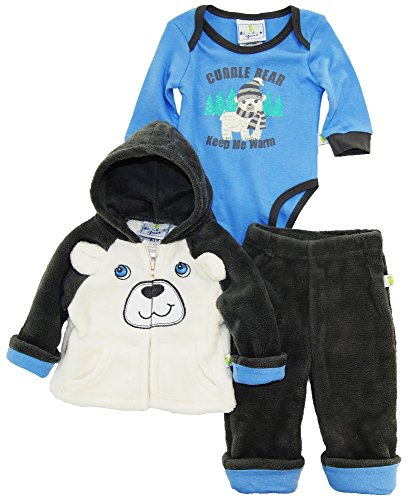 duck-goose-baby-boys-arctic-polar-bear-sherpa-jacket-bodysuit-3pc-pant-set-grey-3-6-months
