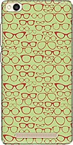 The Racoon Grip printed designer hard back mobile phone case cover for Xiaomi Redmi 3. (Green Retr)