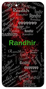 Randhir (Brave) Name & Sign Printed All over customize & Personalized!! Protective back cover for your Smart Phone : Moto G3 ( 3rd Gen )