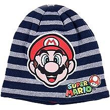 Nintendo Super Mario Bros Ragazzi Berretto di Lana - Blu Marino 5c23575638e4