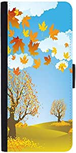 Snoogg Autumn Background Vector Designer Protective Flip Case Cover For Sony ...