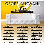 Wandaro W3291 Wandtattoo Skyline Dortmund I Schwarz (BxH) 100 x 29 cm I Selbstklebend Stadt Aufkleber Städte der Welt Wandsticker Wandaufkleber