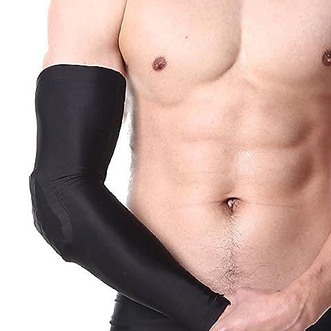 1 Paar Sport Ellenbogenbandage und Arm Unterstützung Kompression für Kraftsport, Fitness, Bodybuilding, Handball, Tennisarm - Damen & (Spandex Elbow)