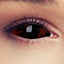 """Sclera lentillas de color ardiente negro para Halloween 22mm bestia lentillas de seis meses sin dioprtías / corregir + gratis caso de lente """"Black Beast"""""""