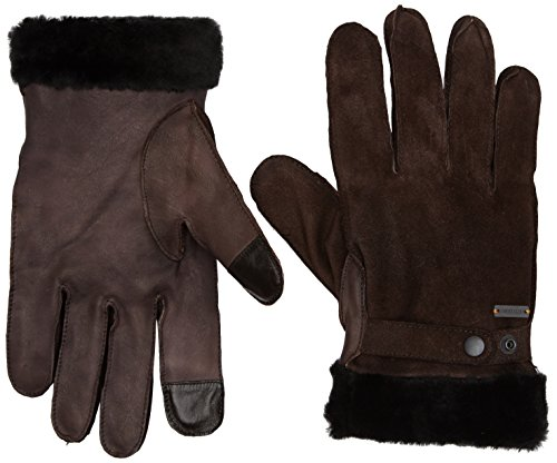 BOSS Orange Herren Handschuhe Gallet-TT, Braun (Dark Brown 201), 9