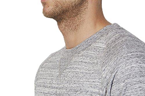 Herren Sweatshirt aus Bio-Baumwolle Mix mit 85% Baumwolle und 15% Polyester, Herren Bio Pullover, Pullover Bio, Herren Bio Sweatshirt,Sweatshirt Baumwolle (Bio) Slub Heather Grey