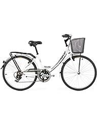 Agece Urban-26 - Bicicleta de paseo para mujer, color blanco, talla S