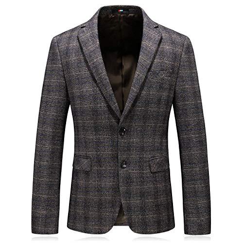 16211dffd4b4bc BOLAWOO Herbst Winter Verdicken Sie Plaid Hochzeit Sakko Klassischer Herren  Blazer Mode Marken Elegant Slim Fit