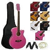 Tiger Jasmin ACG4-PK Elektro-Akustische Gitarre-Set - Rosa
