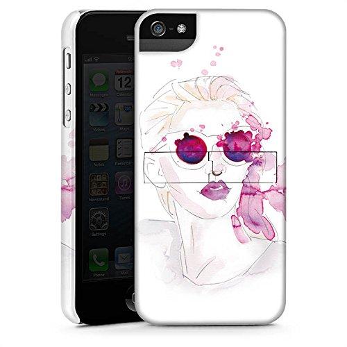Apple iPhone X Silikon Hülle Case Schutzhülle Abstrakt Mädchen marenkruth Premium Case StandUp