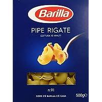 Barilla Semola Pipe Rigate n.91 - 6 pezzi da 500 g [3 kg]