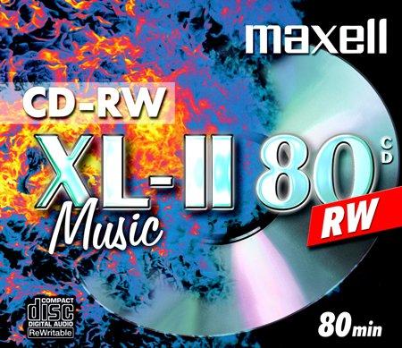 Maxell 624865 CD-RW 80 Rohlinge (speziel für Musik, 700MB, überschreibbar, 1er Jewelcase)