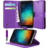 GBOS Leather Wallet Flip Case Cover Soft Pouch Book Stand for xiaomi Redmi 3S Prime with Touch Stylus Pen Pink
