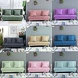 Baoblaze 2 Sitzer Sofabezug Stretchhusse Sofahusse Sofabezüge Sofa Sitzbezug für Wohnzimmer - Rosa L