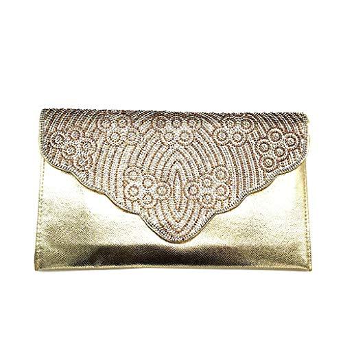 Angkorly - Handtaschen Clutches Taschen Schultertaschen Mini crossbody Tasche Tote bag Strass glitz...