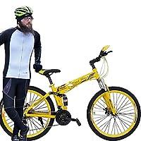 "Mstc Foldable Land Rover Mountain Bike, Yellow, 26"""