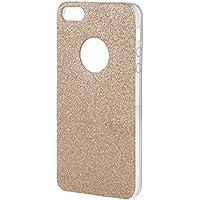 "AREA Glitter 4"" Funda Oro, Transparente - Fundas para teléfonos móviles (Funda, Apple, iPhone 5/iPhone 5s/iPhone SE, 10,2 cm (4""), Oro, Transparente)"