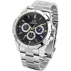 ufengke® fashion casual luminous rhinestone wrist watch,waterproof watch for men-blue,decorative small dials