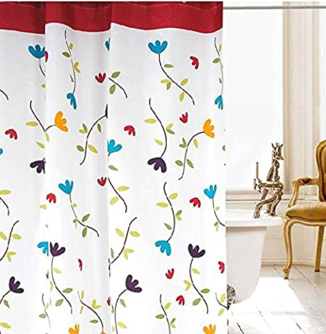 Mildiou-Free Water-Repellent Polyester Tissu Rideau de douche , 150x180cm