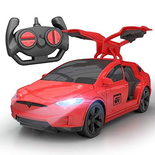 Kikioo Elektrische spielzeugauto kinder funksteuerung racing drift offene tür Dasher Stunt sport fahrzeugmodell rc shock fernbedienung blinklicht kinderspielzeug beste geschenk für jungen ab 3 jahren - Toy Story 4k