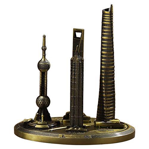 Shanghai Wahrzeichen Gebäudemodell bildet Jinmao Tower Oriental Pearl World Center -