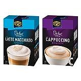 Krüger Dolce Vita Cappuccino und Latte Macchiato Set, mit 2 Sorten, Classic und Amaretto, Milch Kaffee aus löslichem Bohnenkaffee, 20 Portionsbeutel, 429 g