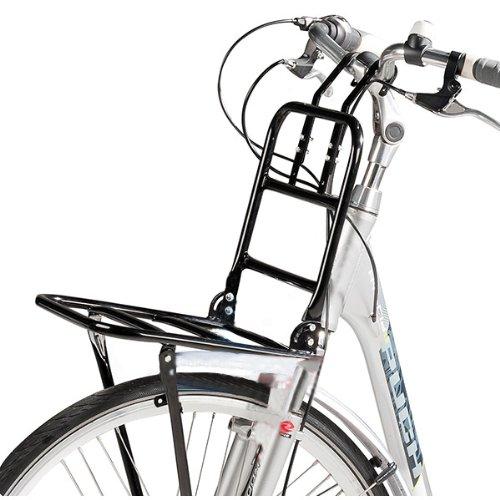 """Fahrrad Frontgepäckträger Vorne Frontträger Gepäckträger universal 24 bis 28""""Holland Style Universalträger max. Zuladung 15kg (Schwarz)"""