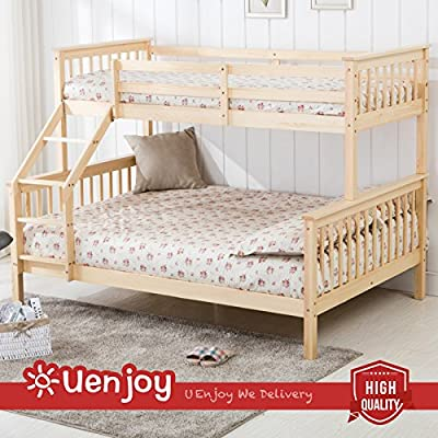 UEnjoy Bunk Beds Triple Bed Frame for Children Adults - cheap UK light store.