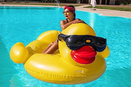 Iso Trade Ente Luftmatratze XXL Badeinsel 210cm Schwimminsel Schwimmliege PVC Liege #3492 (Komische Ente)