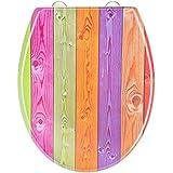 EISL ED69CWOOD Colourful Wood Abattant WC en Duroplast avec frein de chute/déclipsable