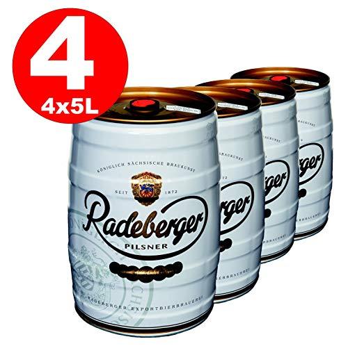 4 x Radeberger Pilsener 5 Liter Partyfass 4,8{119b14c16e115077177cd5edeab4513ffe597c26bcee5f1013589f3251b55b19} vol - EINWEG