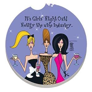 girls night out car coaster k che haushalt. Black Bedroom Furniture Sets. Home Design Ideas