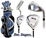 Ben Sayers - 2,5cm längerer M15 Komplettes Golfschläger Set Herren Grafitschläger mit Stahlschaft + Gratis Ben Sayers Golfschirm & Society Packung