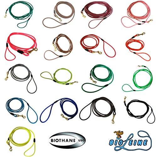 bio-leine Schleppleine aus runder Biothane | 3-20 Meter Länge| 17 Farben, Ø 6,4 mm, für kleine und große Hunde, schmutz- und Wasserabweisende Hundeleine Schleppleinen, 15 Meter - Hellblau