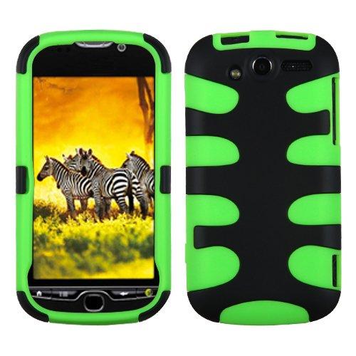 MyBat gummiert Fishbone Telefon Displayschutzfolie Cover-Retail Verpackung-Schwarz/Grün Fishbone Case Cover