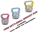 Kettlebell Vinyle Kettlebell 2kg 3kg 4kg de Kettle Bells gratuit de poids: séance d'entraînement DVD