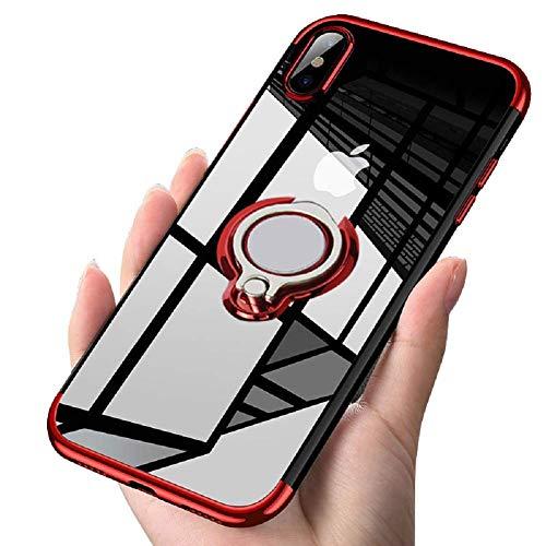 Caler Hülle Kompatible Samsung Galaxy S10 5G Handyhülle Soft Silikon Hülle Ultra Dünn TPU Bumper Case 360 Grad Ring Stand Magnetische KFZ-Halterung Autohalterung Schutzhülle für Transparent Classic 5g Video