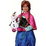 Anna Classic Frozen disfraz inspirado (1 a 9 años) - 140 (7 a 9 años)