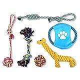 Schramm® 6er Set Hunde Spielzeug aus Seil Kauspielzeug Baumwollknoten Hundespielzeug 6 teilig