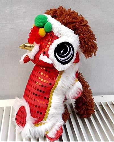 FidgetGear Welpen-Hundekatze-Haustier-Hemd-chinesisches neues Jahr-rotes Cosplay-Kostüm-Hundejacken-Kleidung 8