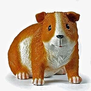 Tierfigur kleines Meerschweinchen Deko-Tier Polyresin Länge 15 cm Skulptur